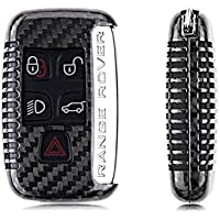 T-Carbon Luxury Geniune Carbon Fiber Remote Key Chain 3k Highlight Polish Keyless Universal Protection Case Cover for Land Rover, Land Rover Evoque ,Jaguar