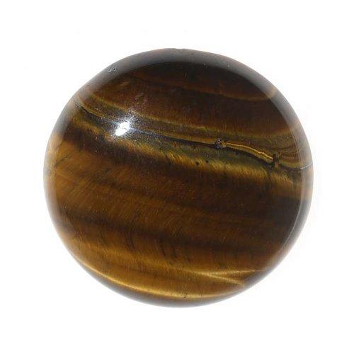Beadaholique Tiger Eye Gemstone Round Flat-Back Cabochons 25mm (1 Piece)