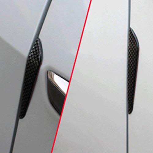 TOOGOO 1set 4pcs Carbon Fiber Door Anti-Collision Strip Car Door Anti-rubbing Door Anti-Collision Tape Body Stickers Black by TOOGOO (Image #3)