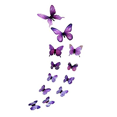 YJYDADA Wall Stickers,3D DIY Wall Sticker Stickers Butterfly Home Decor Room Decorations New