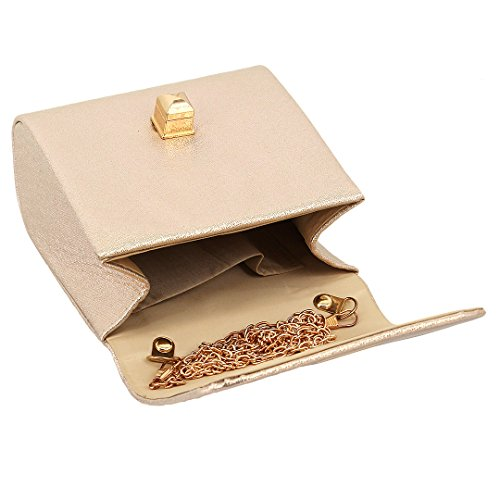 apricot s 90S Elegant Bag Shoulder Bag Shiny Women' Evening Handbag Wedding Clutch Party gw7qp6w