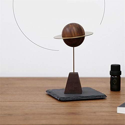 小惑星ディフューザー木材、無香料香の木、香炉エッセンシャルオイルディフューザー、オリジナルのデザイナーのアイデア,ブラウン