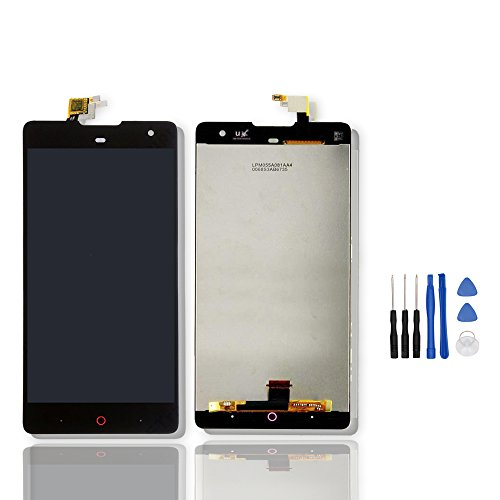 LCD Display and Touch Screen Digitizer Glass Replacement Full Assembly for ZTE Nubia Z7 Max+free Tools Black