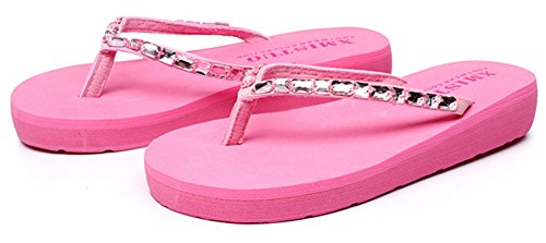 brillant cristal avec mode flops Rose flip Good Femmes Night xq10wFY6