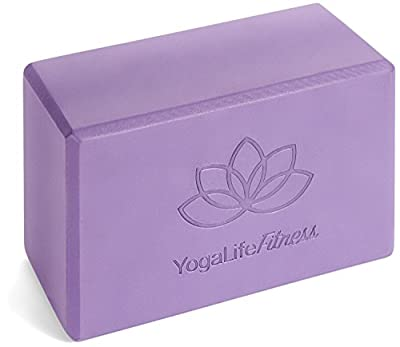 """Yoga Block 9""""x6""""x4"""" Made With The Longest Lasting, High Density, Premium Quality 100% Environmentally Safe Recycled EVA Foam - Lifetime Warranty (1 Color Block) Perfect For Yoga, Pilates, And P90X"""