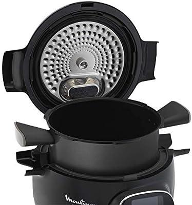 Moulinex Cookeo + Connect olla multi-cocción 6 L 1200 W Negro, Cromo - Ollas multi-cocción (6 L, 1200 W, 6 personas(s), China, Negro, Cromo, Cerámico): Amazon.es: Hogar