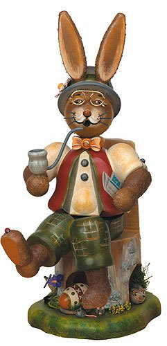 German Incense Smoker Bunny Boy - Gustav - 30cm / 12inch - Hubrig Volkskunst