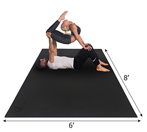 Gxmmat Extra Large Yoga Mat 6'x8'x7mm Extra Thick Exercise Floor Mat Non Slip for PilatesStretchingToningPartner Workout