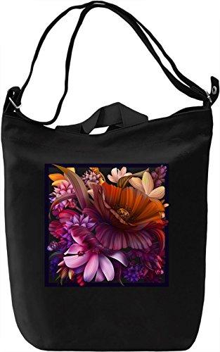 Flower Window Borsa Giornaliera Canvas Canvas Day Bag| 100% Premium Cotton Canvas| DTG Printing|