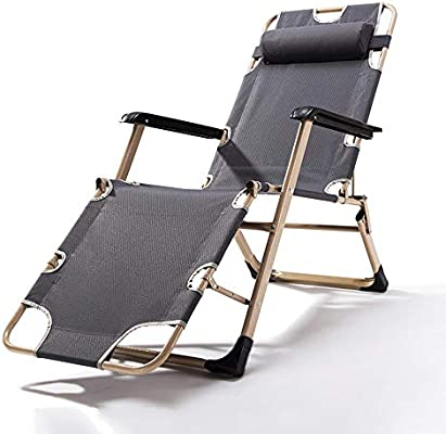 Amazon.com: Lounge Chairs ZHIRONG Folding Sun Loungers ...
