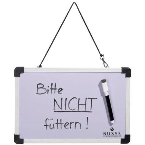 Busse Schreibtafel mit Stift, schwarz/weiß, 30x20
