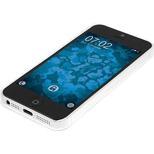 PhoneNatic Case für Apple iPhone 5 / 5s / SE Hülle grün-weiß Sanduhr Hard-case für iPhone 5 / 5s / SE + 2 Schutzfolien
