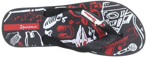 Ipanema Temas VI 80851 Unisex-Kinder Zehentrenner Schwarz (black/black red 22308)