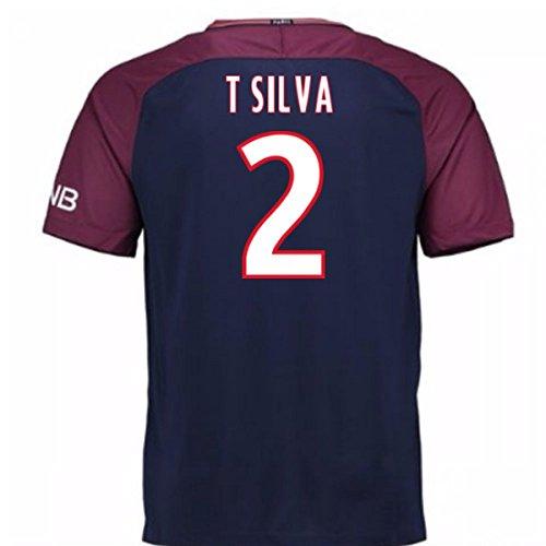 チャネルさわやか不利2017-18 Psg Home Shirt - Kids (T Silva 2)