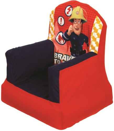 My Gn  Brand New Worlds Apart Childrens Cosy Inflatable And Deflatable Bedroom Chair  Fireman Sam