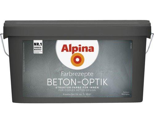 Alpina Farbrezepte BETON ART Komplett-Set: 3 L. Basis, 1 L. Finish ...