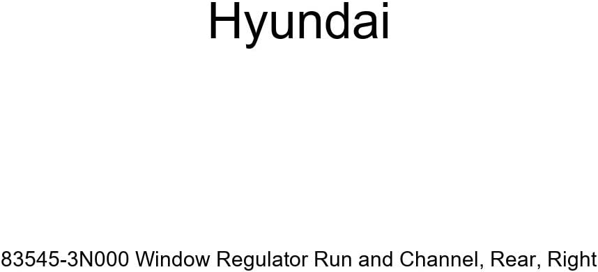 Right Genuine Hyundai 83545-3N000 Window Regulator Run and Channel Rear