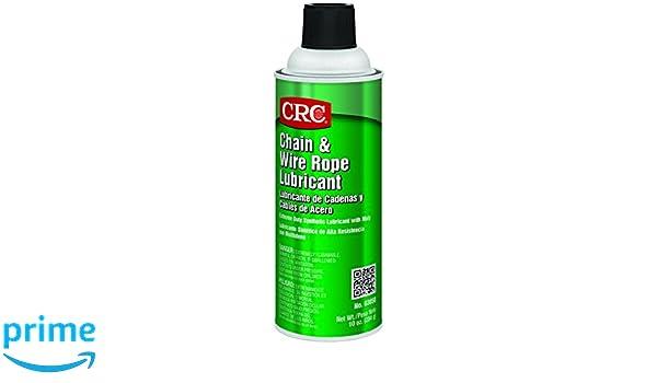 CRC 03050CS CRC Chain and Wire Rope Lubricant 10 WT oz, 16 fl. oz ...