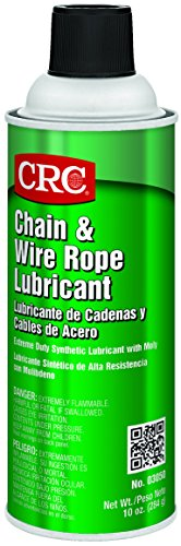 CRC Chain and Wire Rope Lubricating Spray, (Net Weight: 10 oz) 16oz Aerosol (Rope Oil)