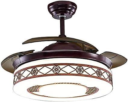 Techo restaurante chino Fan de Luz Salón retro del LED lámpara del ...