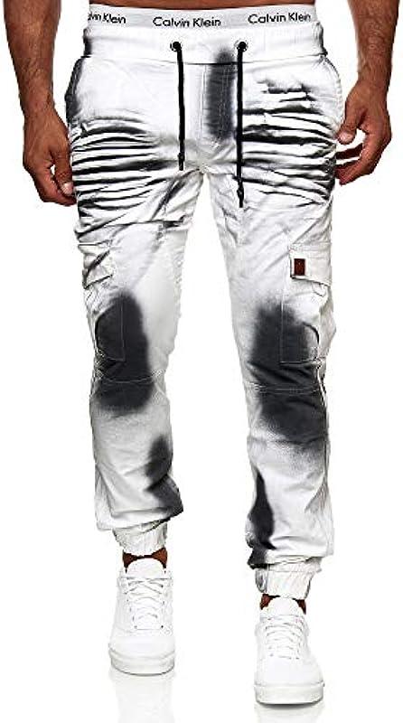 OneRedox Męskie spodnie jeansowe chino Joggchino spodnie dżinsy Skinny Fit model 1033: Odzież