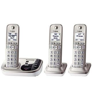 Panasonic Kx-tgd223n Dect 6.0 3-handset Landline Telephone 0