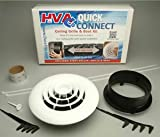 Havaco Quick Connect HT-KIT-R1BD 8 in. Round Diffuser44; Boot with Butterfly Damper44; Start Collar Start to Finish Kit