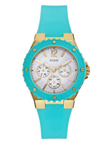 GUESS U0149L3 Turquoise Gold Tone Feminine