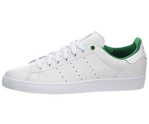 8bf441575dcd4 adidas Men's Stan Smith Vulc Vintagewhite/Green/FTWR Skate Shoe (10 ...