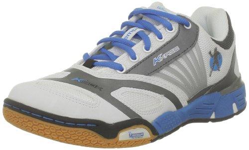 Kempa Cyclone Women (Michelin), Chaussures de handball femme Blanc (Blanc/Bleu/Anthra)