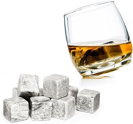 Conjunto de 9 Piedras de Whisky Hechas de Piedra de jabón Natural Piedras del Whisky para Bebidas on The Rocks Cubos de Hielo frías Piedras de la Marca PRECORN