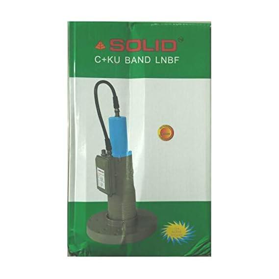 Solid C, Ku Dual Banded LNB for C-Band and KuBand Reception