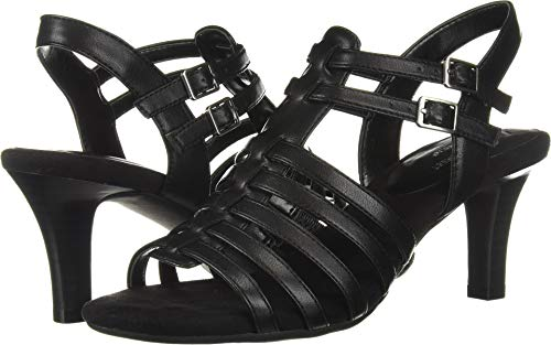 Aerosoles A2 Women's Pass Through Heeled Sandal, Black, 7 M US
