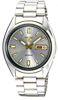 Seiko Men's SNXS75 Seiko 5 Automatic Grey Dial Stainless-Steel Bracelet Watch by Seiko