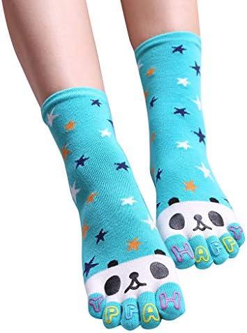 YWLINK Calcetines De Cinco Dedos Mujeres Hombres Calcetines De Pandas Lindos Calcetines Divertidos De Cinco Dedos Calcetines Medianos De AlgodóN Transpirable Comodo Calcetines Deportivos Cielo azul: Amazon.es: Ropa y accesorios