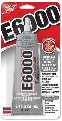 E-6000 Adhesive Metal, Glass, Fiberglass Masonry And Concrete Clear Carded 2 Oz