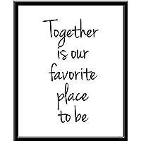 Cuadro Decorativo Together is our favorite place to be Favorito Juntos You and Me Tu y Yo I Love You Te amo Quote Frase Funny Blanco y Negro Cuadro decorativo Print Animales Regalo Arte Poster Cuadro Decorativo Art Wall Art Vintage Decor Home Decor Decoración Retro Hipster Cool