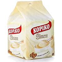 Kopiko Instant 3 in 1 Brown Coffee Mix with Creamer and Sugar 30 Count Per Bag (Kopiko Blanca 3 in 1 Creamy Coffee Mix)