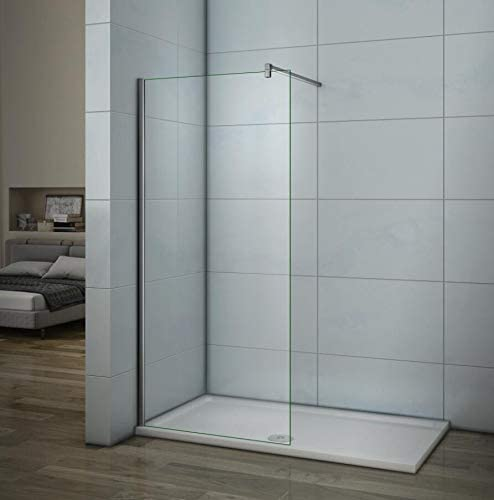 Mamparas de ducha Frontales Puerta fijo Cristal 6mm Antical Barra ...