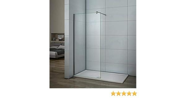 Mamparas de ducha Frontales Puerta fijo Cristal 6mm Antical Barra 90cm 65x185cm: Amazon.es: Bricolaje y herramientas