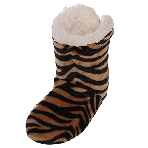 Boots Zebra for women Fur Shoes Lounge Fur Boots Indoor Black Emmalise Khaki Slipper Women's a8q1B1
