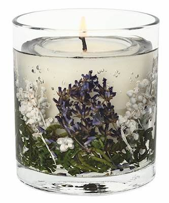 Stoneglow Lavender Fields Botanics Natural Wax Tumbler Refillable Scented Jar Candle
