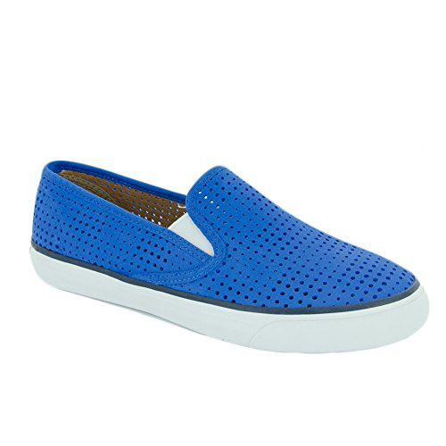 Sperry Top-sider Donna Al Mare In Pelle Moda Sneaker Blu