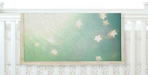 KESS InHouse Robin Dickinson Amongst The Stars Teal Stars Fleece Baby Blanket 40 x 30 [並行輸入品]   B077YTW1CS