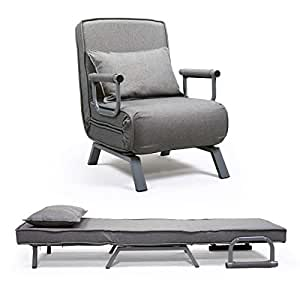 Amazon Com Jaxpety Sofa Bed Folding Arm Chair Single