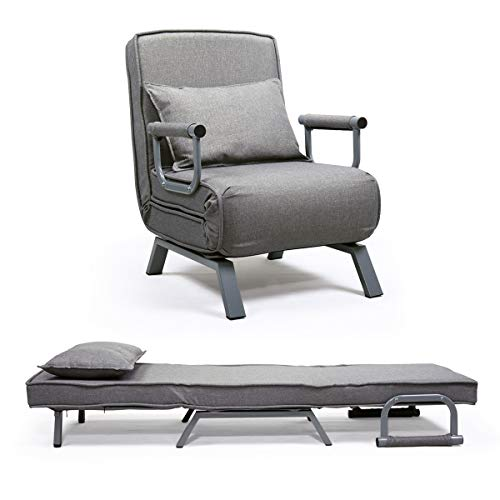 JAXPETY Sofa Bed Folding Arm Chair Single Sleeper Bed Chair Leisure Recliner Lounge Couch (Chair Sleeper Lounge)