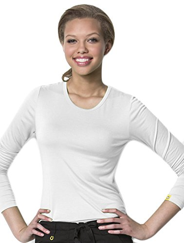 Silky Long Sleeve Sub Scrubs White Small