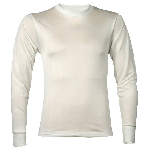 (Terramar Men's Thermasilk Filament Crew (Natural,)
