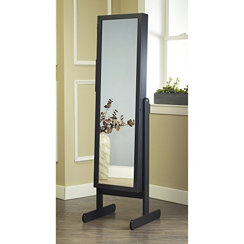 Review Plaza Astoria Free Standing Jewelry Armoire Cabinet Style with Adjustable Stand, Full Length ...