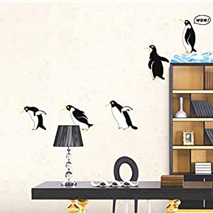 GJGFNJ Divertido Pingüino De Hielo Cocina Etiqueta Engomada del ...